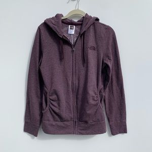 North Face zip up hoodie with back design
